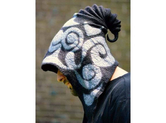 Hey, I found this really awesome Etsy listing at https://www.etsy.com/listing/197818182/black-druid-hood-sorcerer-cowl-cosplay