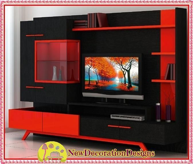 20 Ideas of Red Tv Units | Tv Cabinet And Stand Ideas | Tv unit
