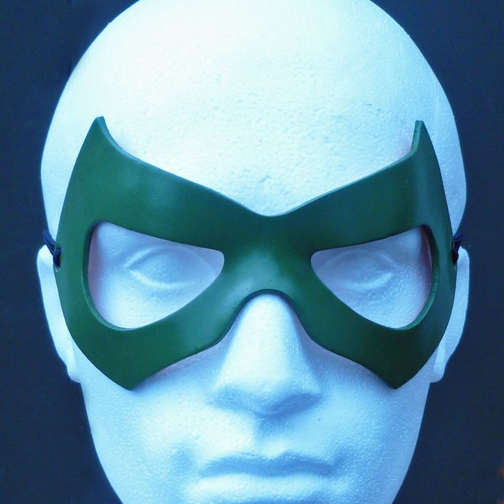 THE GREEN LANTERN Mask Leather Superhero Batman Cosplay Costume Halloween Mask | eBay