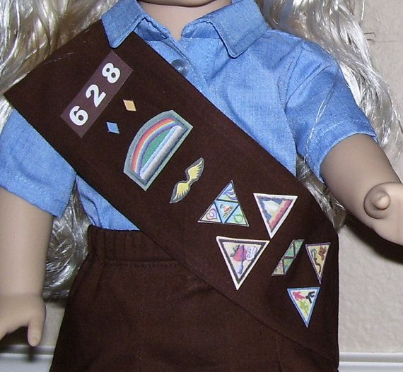 18 Inch Doll Clothes  Brownie Girl Scout Vest or by dressupdollie, $8.00