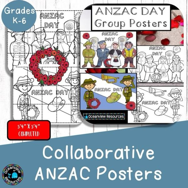 These 2 posters when complete measure 100cm X 100cm.  There are two posters included in this pack, one for younger students and the other for middle to upper primary.This collaborative project is a wonderful activity to work on with your students.  You will receive a PDf or the images as jpegs, whatever works best for your printing needs.There are 15 pages that make up each poster.  only $5 for the set #onselz