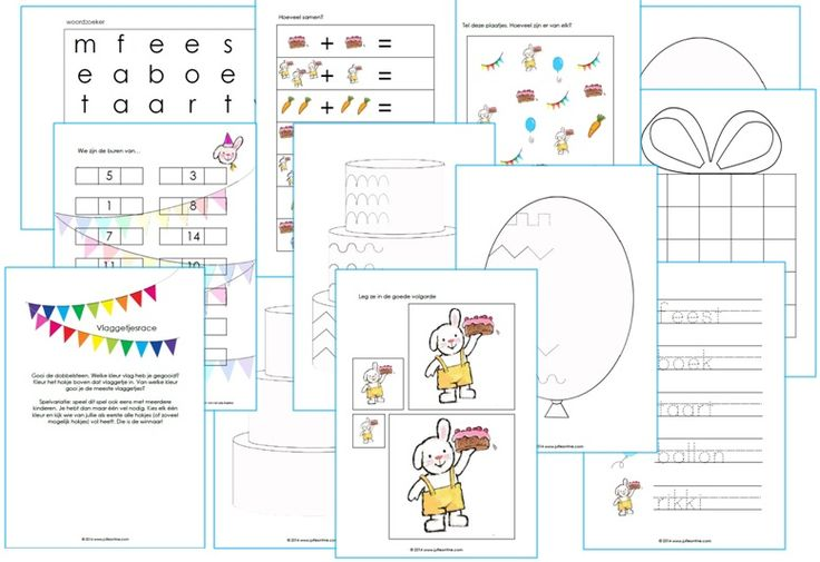 Werkbladen Kinderboekenweek thema feest kleuters