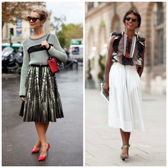 how to wear midi skirts get in my closet