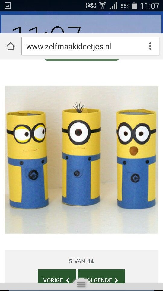 Toiletpaper-roll minions