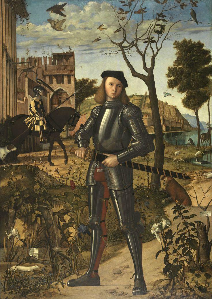 [Imagen para edición/GIF] Vittore Carpaccio - Joven caballero en un paisaje 1510. Tomado prestado para la tarea que nos ocupa, desde la web del Museo Thyssen.