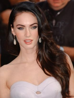 Megan Fox Thick Layered Haircut - Long Thick Haircuts with Layers