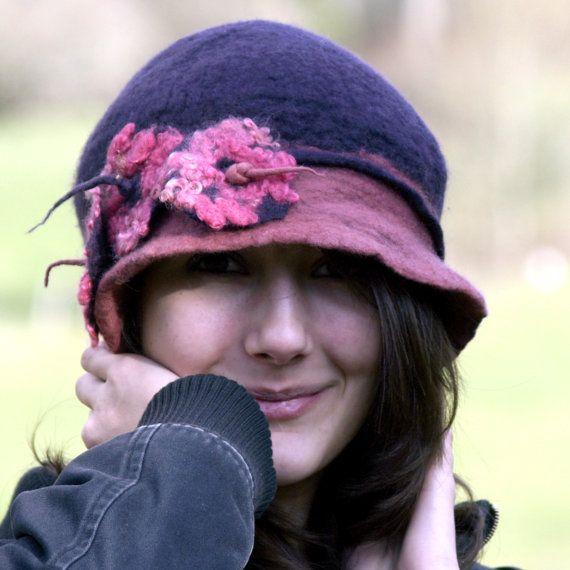Love this hat.Merino Wool, 1920S Style, Super Handmade, Hats Fabulous, 20 S Style, Felted Woven, France, Felt Hats, Handmade Felt