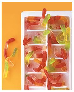 I am thinking of doing this with Jello Jigglers. My son will go crazy for this!