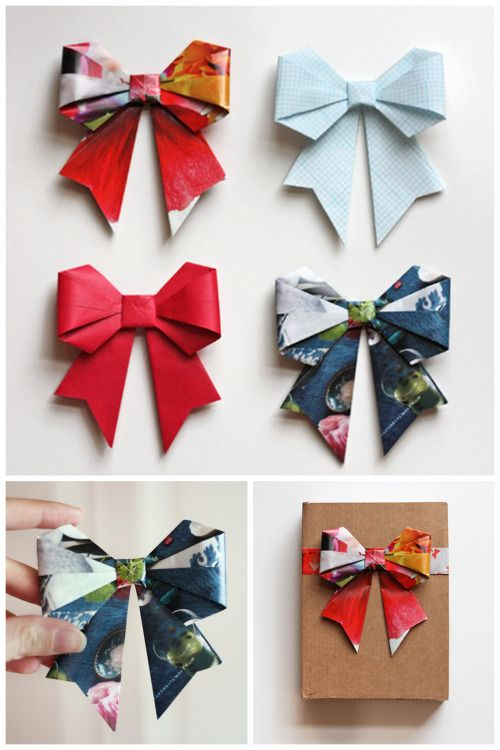DIY Origami Magazine Bows from Let's Create. A blast from the...