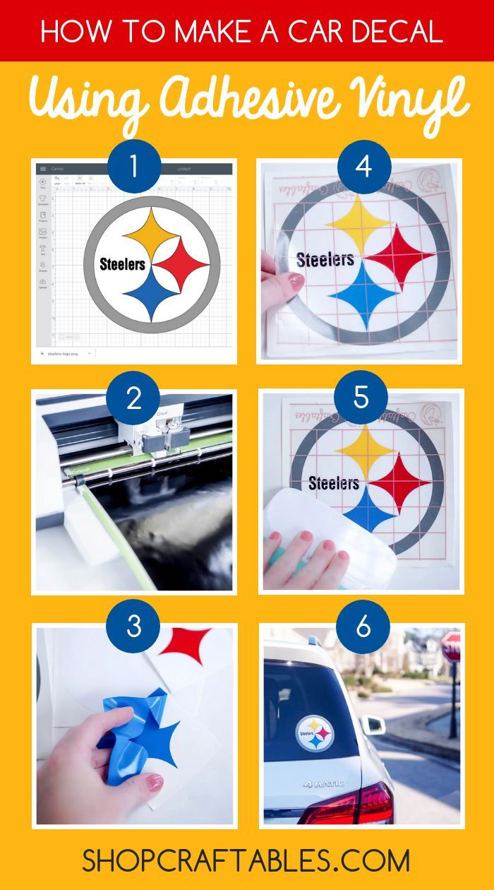 Make your own favorite nfl sticker with craftables adhesivevinyl well show you exactly how to make it with our easy to follow step by step tutorial