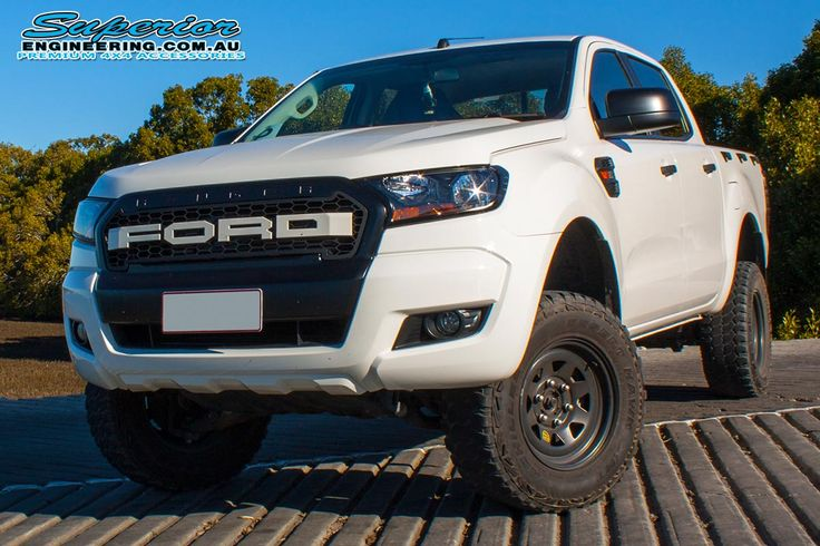 "Ford Ranger PX (Dual Cab) On The Hoist at Superior Engineering!  Fitted: 3"" Inch Superior Nitro Gas Lift Kit  What's In The Kit:  • 2 x Superior Nitro Gas Front Struts • 2 x Superior Nitro Gas Rear Shocks • 2 x Ironman 4x4 Coil Springs • 2 x Ironman 4x4 Leaf Springs • 2 x Ironman 4x4 Greasable Shackles • 2 x Ironman 4x4 Fixed Pins • 4 x Ironman 4x4 U-Bolts • 1 x Ironman 4x4 Polyurethane Bush Kit • 2 x Superior Rear Brake Lines • 2 x Superior Upper Control Arms  For more information call us…"