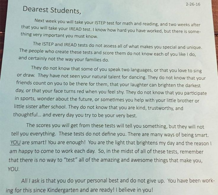 This Teacher's Letter is Leaving a BIG Impression