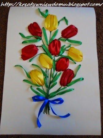 Kwiatki na Dzień Matki - Kreatywnie w domu