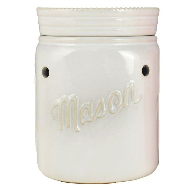 SONOMA Goods for Life™ Mason Jar Wax Warmer (21 AUD) ❤ liked on Polyvore featuring home, home decor, home fragrance, white, electric fragrance warmer, ceramic candle warmer, fragrance wax melts and scented wax burner