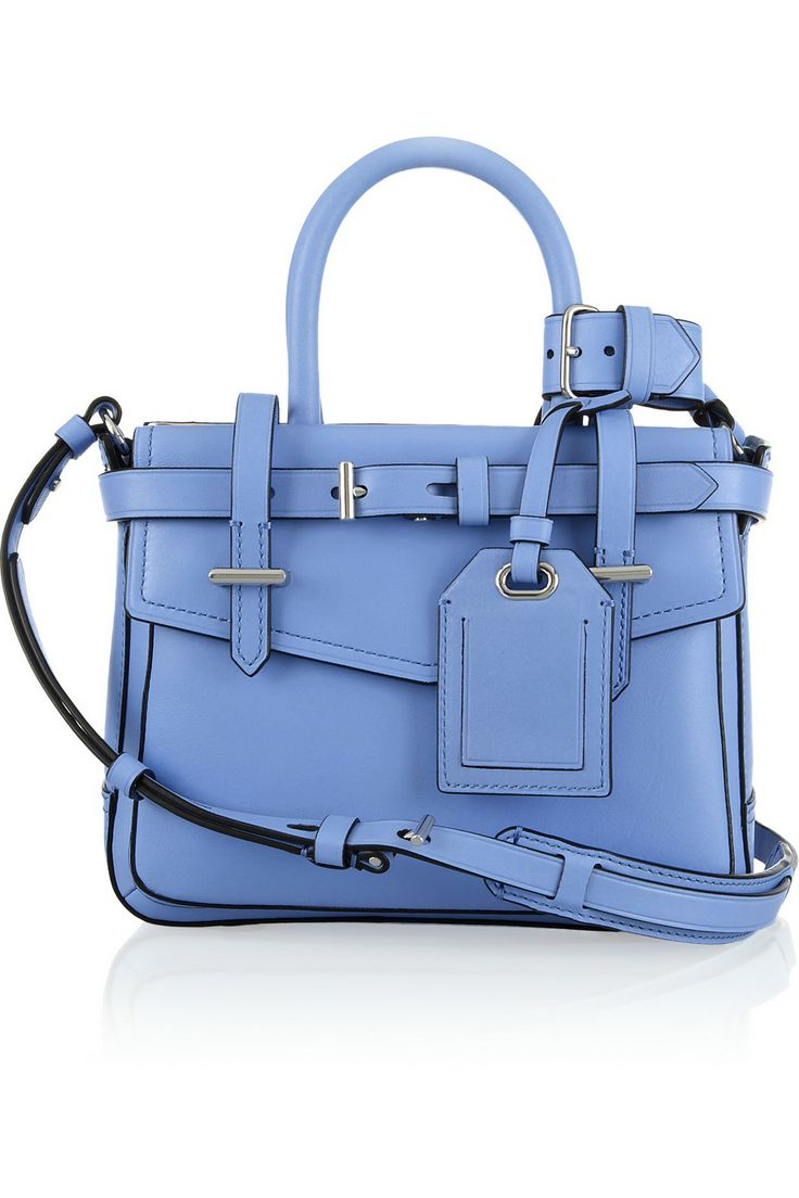 Reed Krakoff|Boxer mini leather tote|NET-A-PORTER.COM  <3 this blue tote