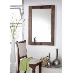 SPIRIT zrkadlo #50 - 100x88cm lakované staré indické drevo