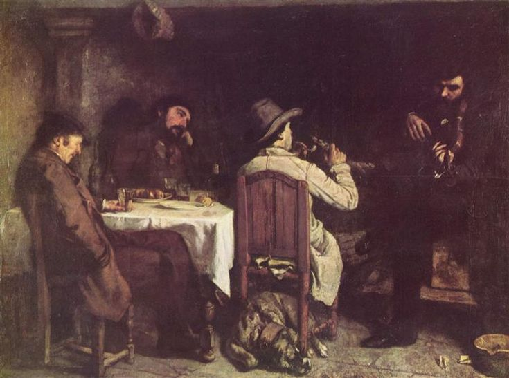 """""""После Обеда В Орнане"""", 1848-1849, Гюстав Курбе"""