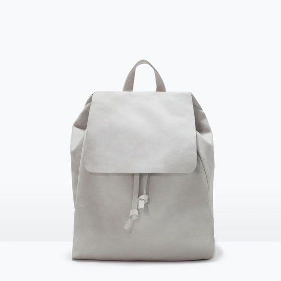 c566ac6871 Image 1 of LEATHER RUCKSACK from Zara