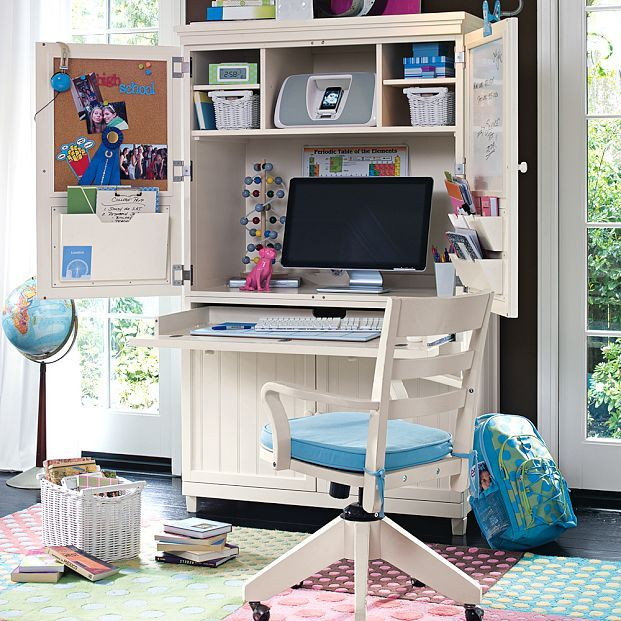 The Best Study Room Furniture to Make an Efficient Room: Marvelous Utility Study Rooms With Exquisite Useful White Desk Combining Bookshelf And Pc Unit Also Task Chair On Pink Blue Rug Along With Schoolbag Globe Miniature As Well As Handy Craft ~ workdon.com Furniture Inspiration