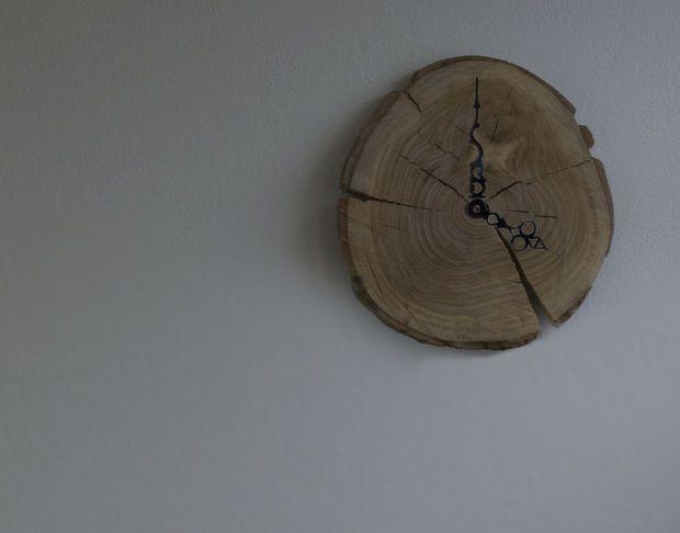 tutorial Wooden Stump Wall Clock