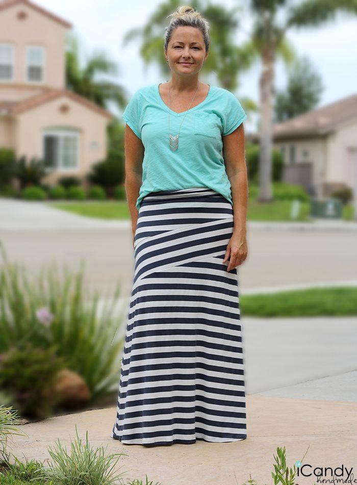 DIY: zig zag maxi skirt