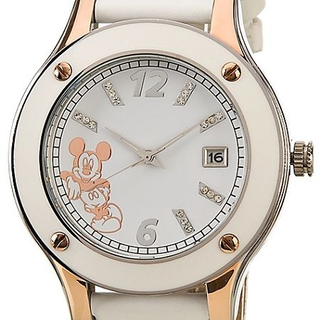 Disney Wrist Watch - Rose Gold Mickey Mouse in White