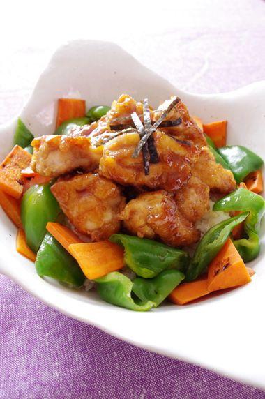 鶏もも肉のオイスター丼☆ | 美肌レシピ