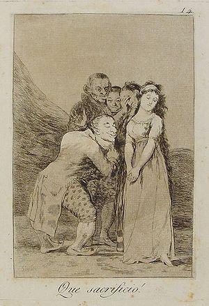 """Serie de Grabados """"Los Caprichos"""" - Goya 1799 14° Qué sacrificio!"""