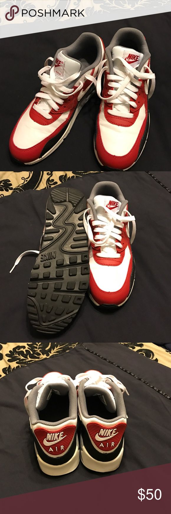 90 Nike Air Max ***Price Firm**** 1990 Nike Air Max. Great Condition. Worn 1x. No original box. Fits Ladies Shoe 7.5/8 Nike Shoes Sneakers