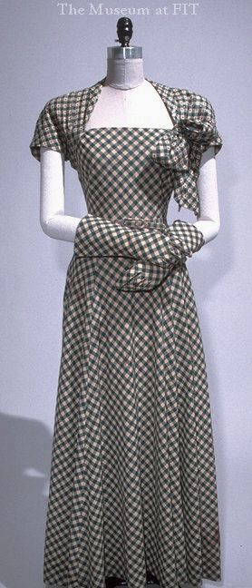 Norman Norell gingham ensemble, 1939. Collection of The Museum at FIT
