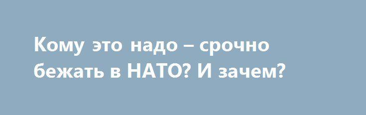 Кому это надо – срочно бежать в НАТО? И зачем? http://rusdozor.ru/2017/02/03/komu-eto-nado-srochno-bezhat-v-nato-i-zachem/  Когда президент Украина Петр Порошенко заявил немецким журналистам, что намерен провести референдум о вступлении его страны в НАТО, возник естественный и самый главный вопрос: зачем это власти нужно? Ведь сегодня после госпереворота 22 февраля 2014 года хоть и отменен внеблоковый ...