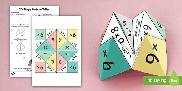6 Times Table Fortune Teller - 6 times table, times table, times tables, fortune teller, activity, craft, fold, maths fun
