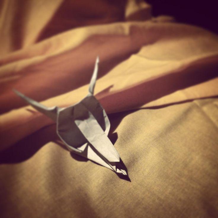 Death in Venice. #origami #paper #skull #death #Venice #desert #melting