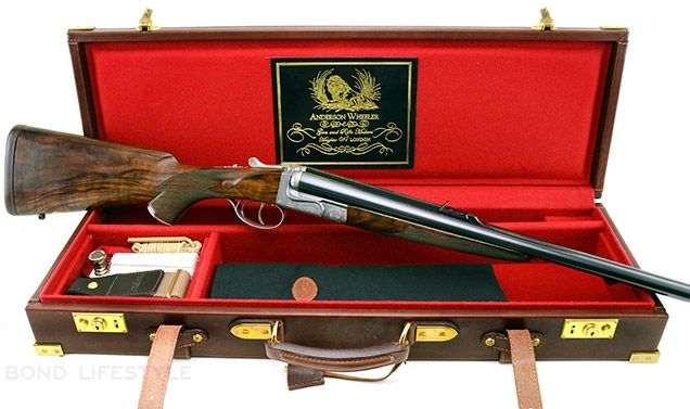 James Bond (Daniel Craig) uses an Anderson Wheeler 500 Nitro Express Double Rifle with box lock in SkyFall.