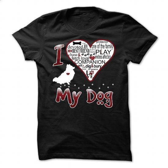 I Love My Dog - Pomeranian - #clothing #funny shirt. ORDER NOW => https://www.sunfrog.com/Pets/I-Love-My-Dog--Pomeranian.html?60505