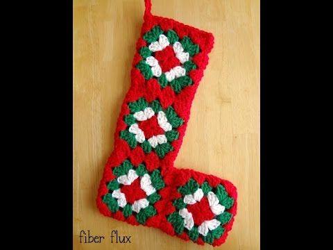 How To Crochet A Nostalgic Granny Stocking, Episode 270 - YouTube