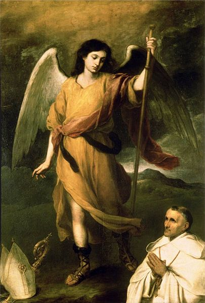 Archangel Raphael with Bishop Domonte