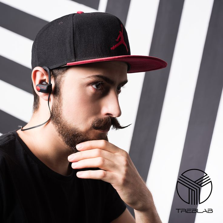 TREBLAB XR500 Bluetooth Headphones, Best Noise Cancelling Wireless Earbuds, Waterproof Sports Running Earphones