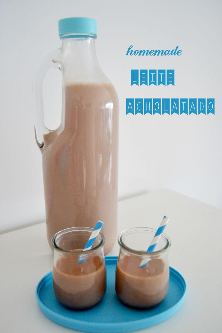 1/2 torradinha e um pingo: Leite Achocolatado Homemade: a vitamina cá de casa...