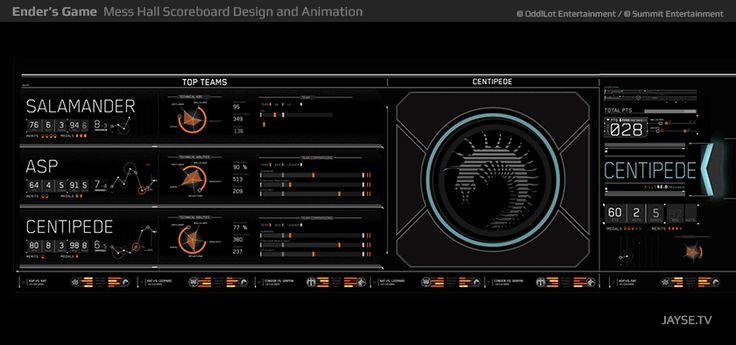 Ender's Game Screen UI Design and Animation - Jayse Hansen