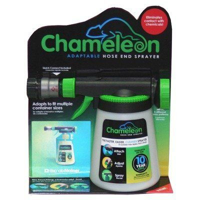 Hudson 62140 Chameleon Convertible Hose End Sprayer by Hudson. $14.73. Quick disconnect hose fitting. Dial setting to any concentrate dilution. Works as a conventional hose end sprayer. Connects directly to chemical concentrate bottles. Hand sprayer. Hudson 62140 chameleon convertible hose end sprayer