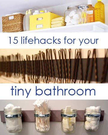 15 ways to make a tiny bathroom space-efficient!