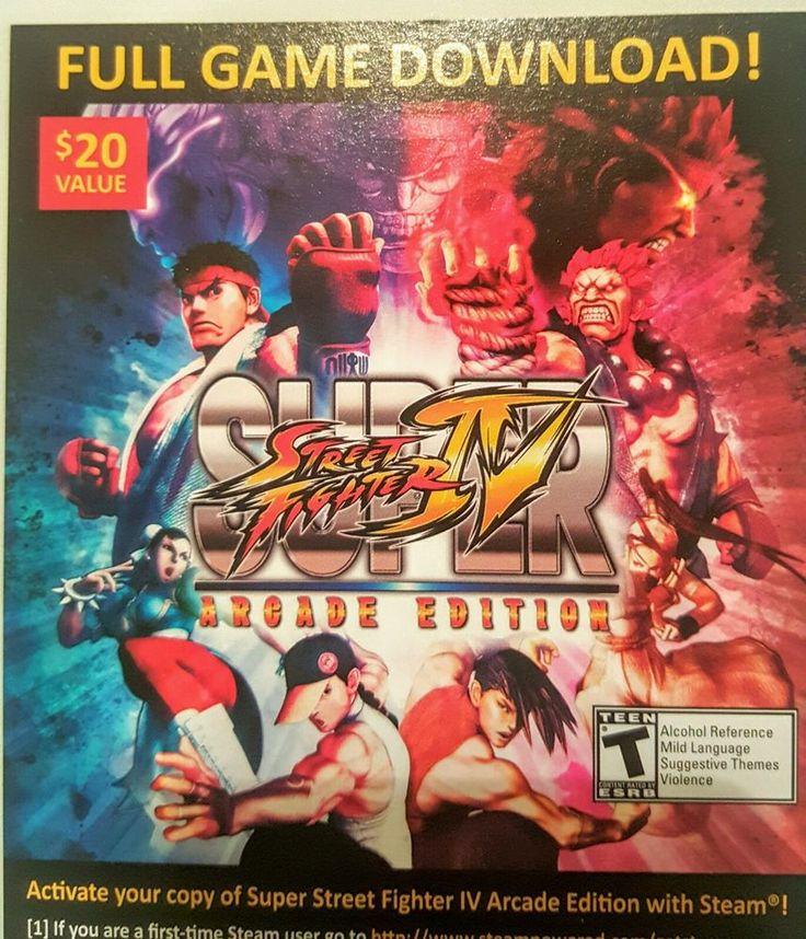 CAPCOM SUPER STREET FIGHTER IV 4 ARCADE EDITION STEAM FULL GAME DOWNLOAD CARD #CAPCOM