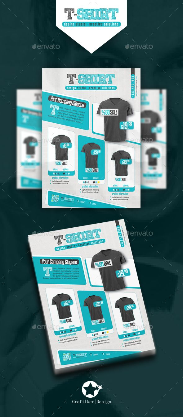 t shirt flyer templates