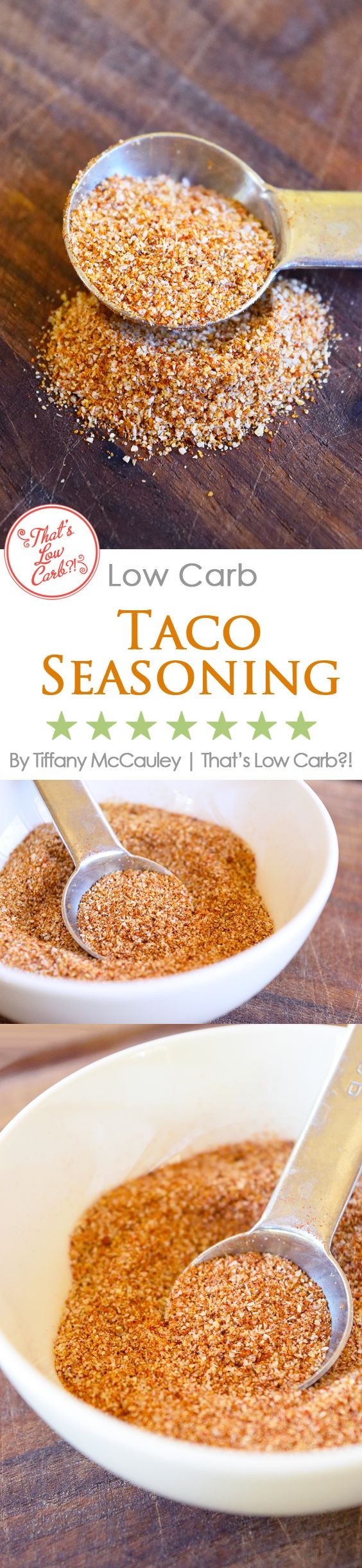 Low Carb Recipes | Taco Seasoning Recipe | Homeade Taco Seasoning ~ https://www.thatslowcarb.com