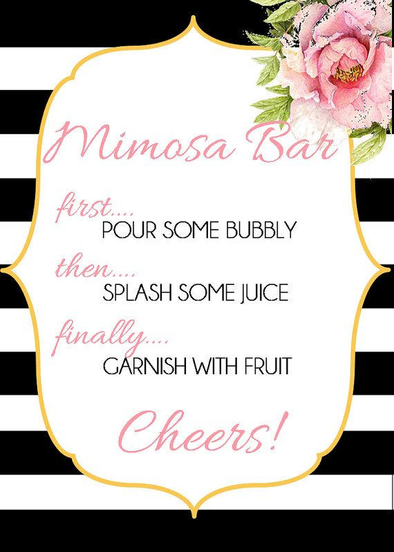 Mimosa Bar by KatieMinchDesigns on Etsy