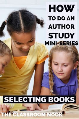 Have you always wanted to do an author study, but not sure where to start?  This mini series is for you.  In this part 1 installment of the series, we talk all about how to select books for your author study!