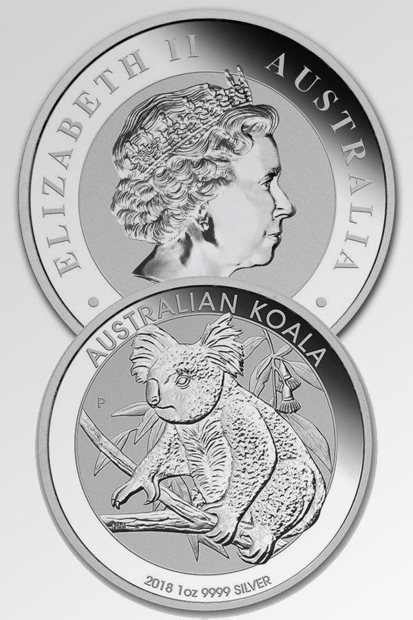 Koala Perth Mint 1 Oz 9999 Fine Silver In 2020 Silver Bullion Bullion Coins Silver Coins