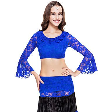 Dancewear Lace Belly Dance Top For Ladies More Colors – USD $ 14.99 - red