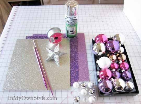 Supplies-Needed to make an ornament Christmas Tree